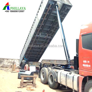 Heavy Duty Truck Side Tipper / Rear Dumper Semi Trailer 100 ton dump truck for sale