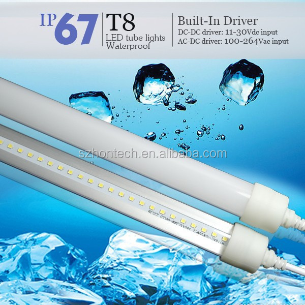 led aquarium light / frezzer/ refrigerator tube light T8 3 years warranty DC 24V/ 85-265Vac waterproof tube light
