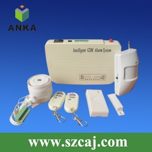 Multifunction Home Wireless Security GSM Alarm System with intercom speaker and SMS alert to phone
