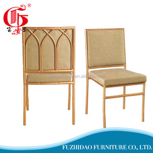 Waterfall back gloden dining chair with high quality cushion