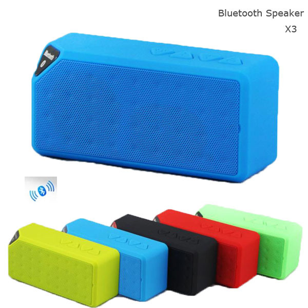 Bluetooth <strong>speaker</strong> wireless X3 with FM Mini Wireless Music Sound Box Subwoofer Loudspeakers