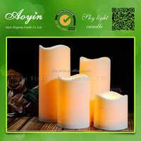 Aoyin hot selling remote control LED candles votive candle