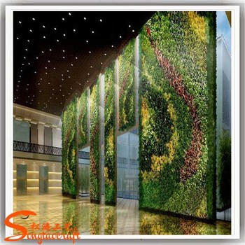 Hot Sale Greenery Wall Artificial Vertical Grass Wall Fake