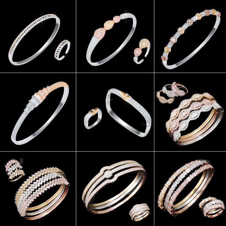 Latest Elegant Design Fashion brand name brass bangles 5-1260
