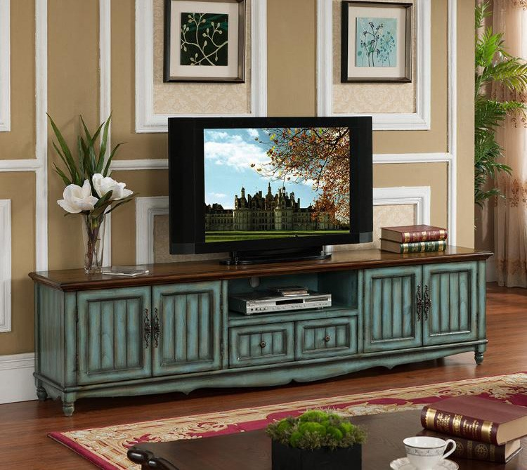 Antique Tv Stand Distressed Wooden Used Movable Style Unique Stands Product On Alibaba