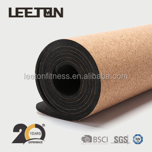 Private Label non slip custom cork yoga mat / exercise matt