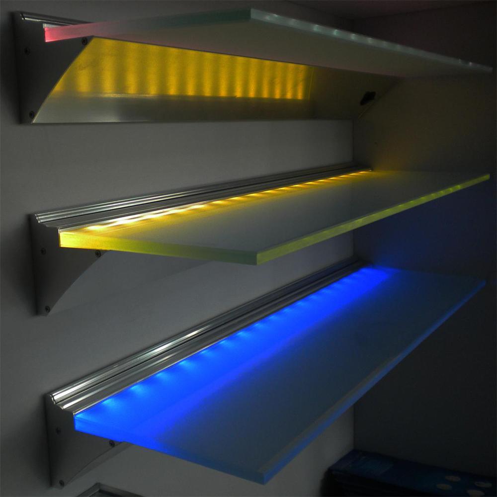 600 900 1200 Mm Led Gl Shelf Light For Showcase Bookshelf Wine Cabinet 3w Dc12v Battery Shelves