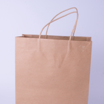 Difference size shopping recycled kraft paper bag
