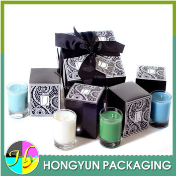 Custom Sized Paper Candle Box,Candle Box Packaging Decorated With ...
