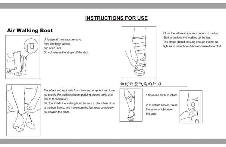 Ol-wk015 Short Super Air Cast Orthopedic Fracture Walking Boot For Foot  Surgery - Buy Short Walking Boot Cast,Fracture Walking Boot,Orthopedic  Walking