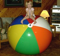 Plastic PVC inflatable giant beach ball