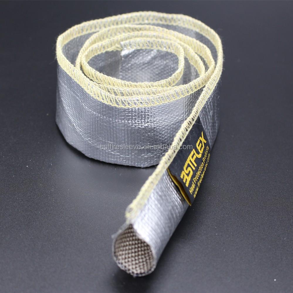 Sewn Aluminum Foil Fiberglass Heat Reflective Sleeve - Buy Heat ...