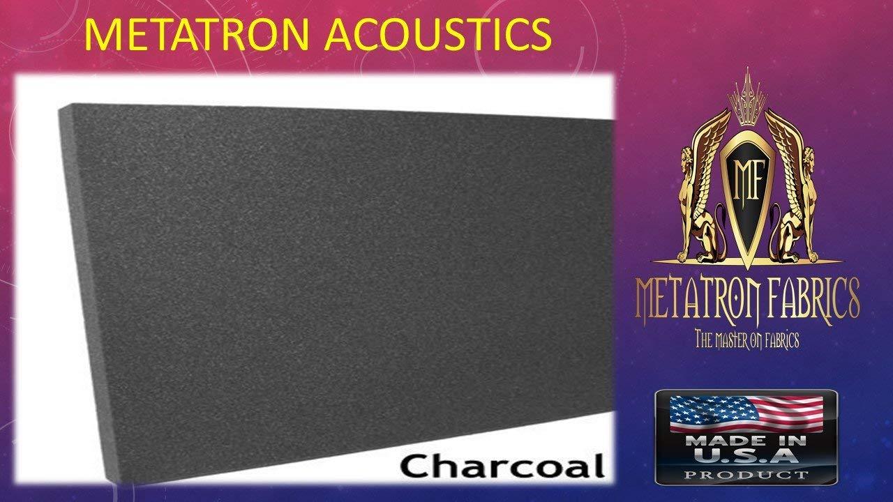 "Acoustics Foam Upholstery Rubber Foam Sheet Cushion Seat Replacement, Foam Padding 1/2""X 18""X 24"" Charcoal Made in USA"