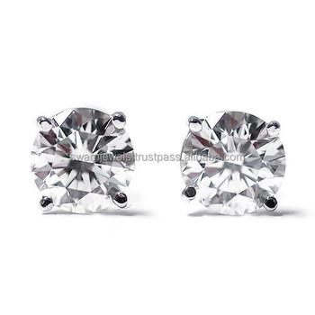 1 00 carats single 14k white gold diamond earrings buy