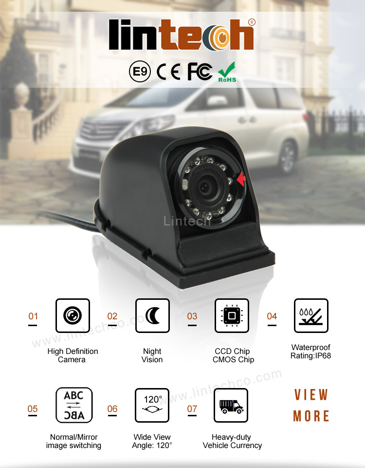 Waterdichte Auto Cmos Mini Backup Camera Spiegel Met Ccd