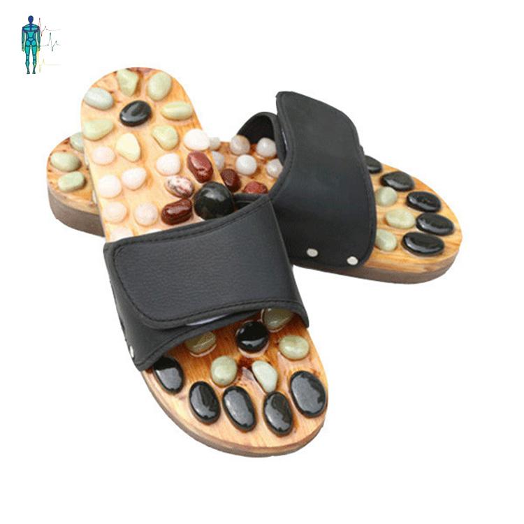 da2d1c5d47f7 Factory Price Black Color Stone Acupressure Foot Massage Slipper ...