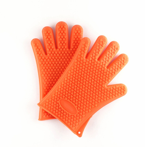 High Quality Heat Resistant Silicone Bbq Glove With Fingers Insulated