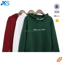 Custom Made Thick Winter Pullover Hooded Sweatshirt Brushed Fleece Hoody With Printing Logo