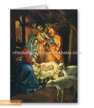 Vintage Christmas Nativity Baby Jesus In Manger Greeting Cards Buy