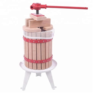 Oak Wood Basket Fruit Press Wine Making,Cider Apple Grape Crusher Juice Maker Tool