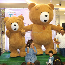 Top sale 2M/2.5M/3M/3.5M adult inflatable teddy bear mascot costumes