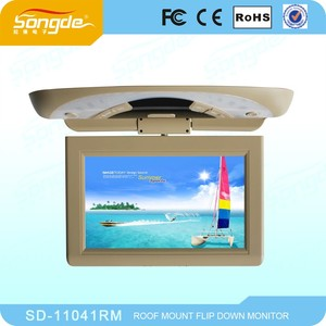 China Fashion Car Monitor10.1 inch Flip Down Monitor with 2 video input