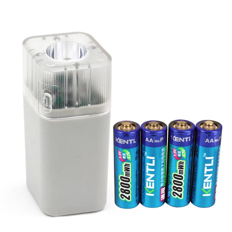 4pcs kentli 2800mwh li polymer li ion lithium rechargeable aa battery batterie 4 slots. Black Bedroom Furniture Sets. Home Design Ideas