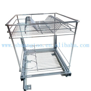 Exceptional Multi Functional Kitchen Cabinet Sliding Wire Basket/Kitchen Cabinet Wire  Steel Sliding Pull Out