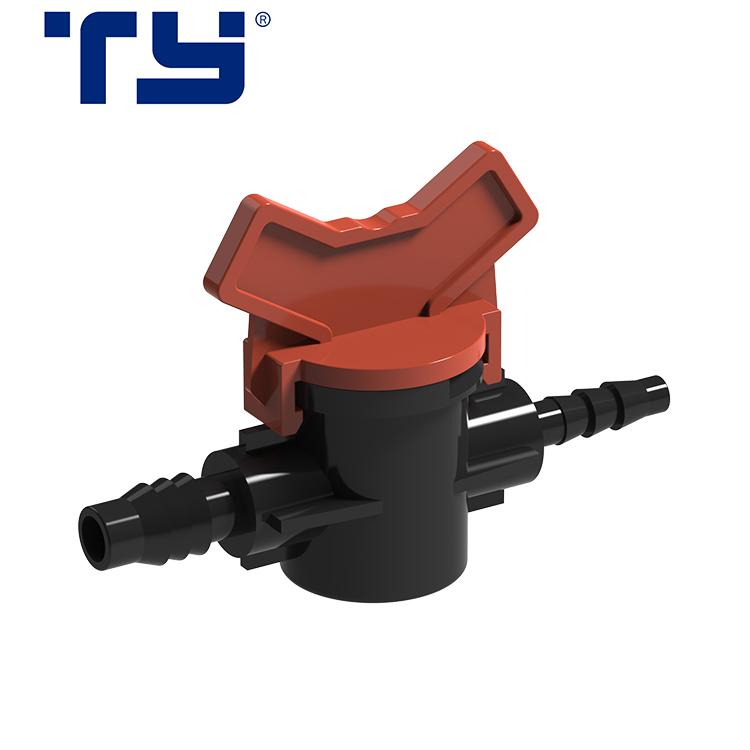 Factory Low Price PP Mini Water Valve Plastic Micro Irrigation Barb Valve