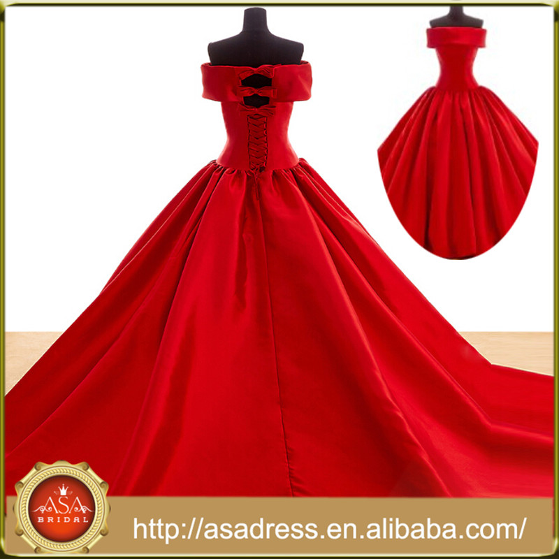 New Style Red Ball Gown Evening Dress For Fat Woman Red Party Dress ...