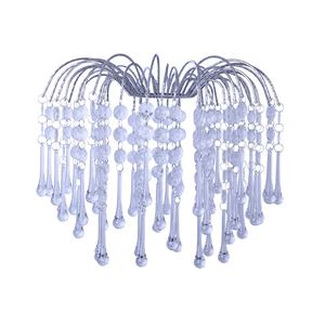 Fashion bead chandelier acrylic lamp shade