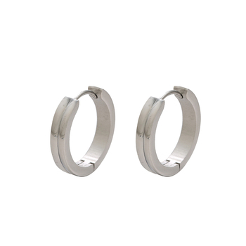 E-558 High Quality xuping fashion earring silver color Ladies Simple Hoop Earrings
