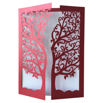 2018 New Popular Laser Cut Wedding Invitations Laser Cut Tree