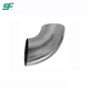 1.5MM Thickness DN80 SS304 90 Degree Sanitary Welded Elbow with Weldedped End