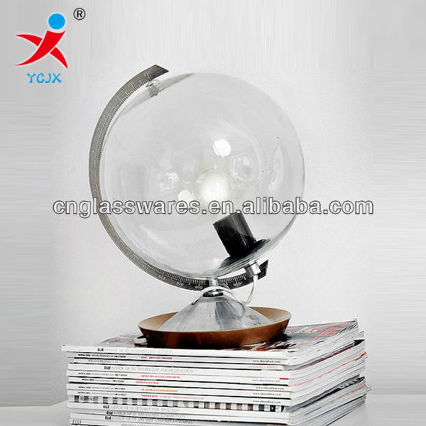 Superb GLASS GLOBE TABLE LAMP