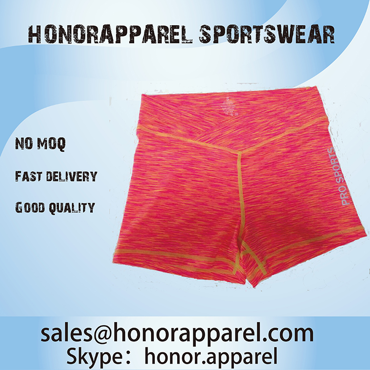 Wholesale Summer Breathable Yoga Running Fitness Shorts Polyester Soft Gym Sports Short Pants Fashional Yoga Wear