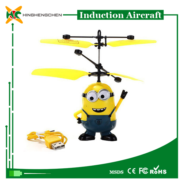 Promotional flying minion aircraft mini airplane toy