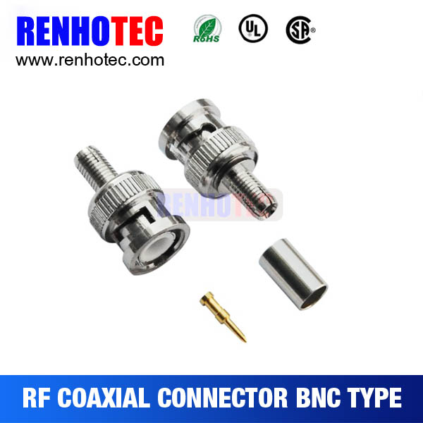 male plug bnc connector rg6 crimp