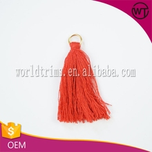 Eco-friendly red banjara long tassels for dresses