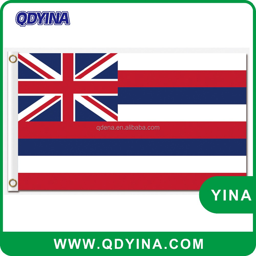 Printing 3X5Ft Polyester Flying Hawaii USA State american flag