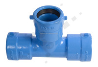 Water Treatment Plant Fire Protection System ISO2531 Ductile Iron socket end Fittings equal tee