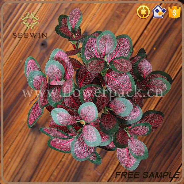 Green color indoor ornamental fake natural plants buy for Design of ornamental plants