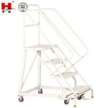 Medium-duty Fold Up Ladders Staal Magazijn Rolling <span class=keywords><strong>Ladder</strong></span>