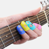 Anti-Pain Anti-Slip Ukulele Guitar Players Soft Silicone Finger tip Protector Finger Guards Cover