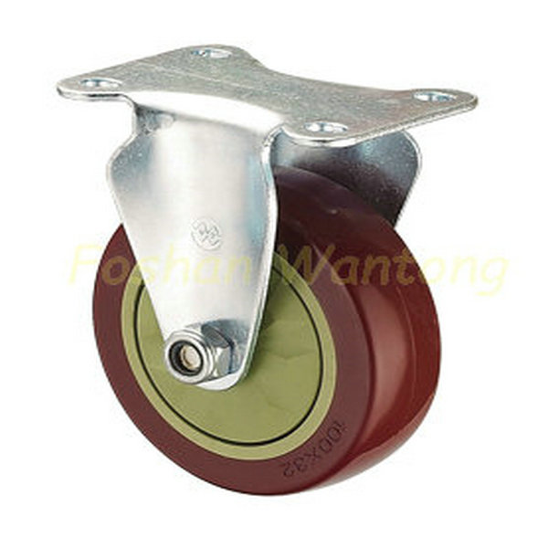75mm 100mm 125mm Color PU Wheel Swivel Joint or Fixed Castor or the Brake Caster Wheel