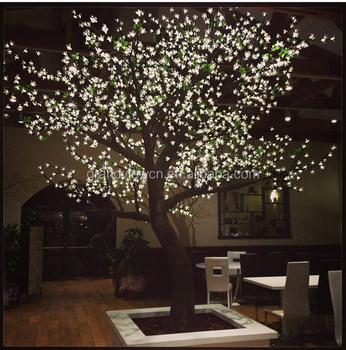 White Artificial Nature Led Cherry Blossom Tree Light For S Lights Product On Alibaba