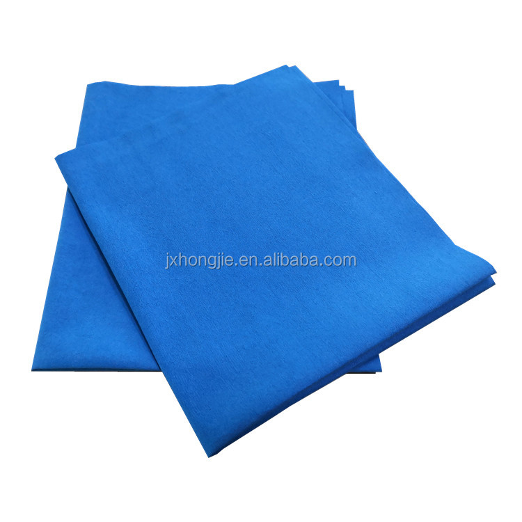 Soft quality microfiber nonwoven glass wipe spunlaced nonwoven cloth