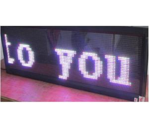 Factory maker LED message display in ULED
