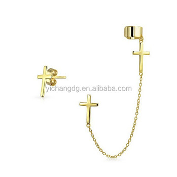 long fashion hanging cross earrings cross earrings for men