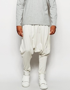 hip hop baggy harem haroun pants white trousers for men loose cotton for youngers
